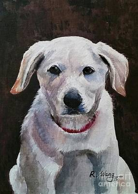 Painting - Dog Portrait by Rose Wang