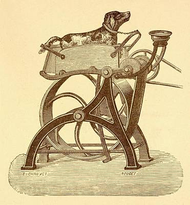 Sewing Machine Photograph - Dog Powered Sewing Machine by David Parker