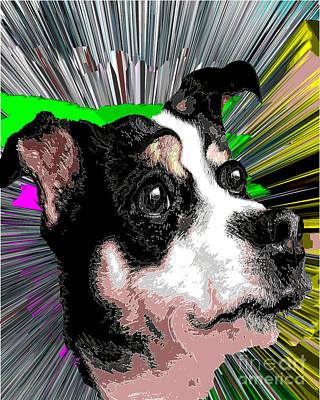 Knockout Digital Art - Dog Rat Terrier Knockout by Dalon Ryan