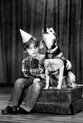 Dog Sings Happy Birthday Art Print by Retro Images Archive