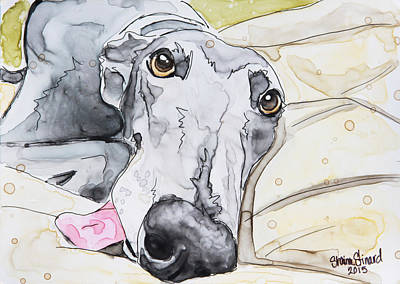 Dog Tired Art Print by Shaina Stinard