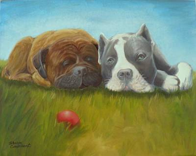 Painting - Dog Tired by Sharon Casavant