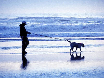 Photograph - Dog Walk By The Ocean by Jeanette Mahoney