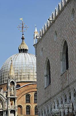 Doges Palace And San Marco Basilica Art Print by Sami Sarkis