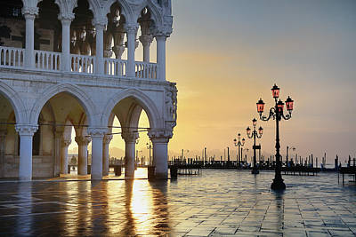 Photograph - Doges Palace From St Marks Square by Cornelia Doerr