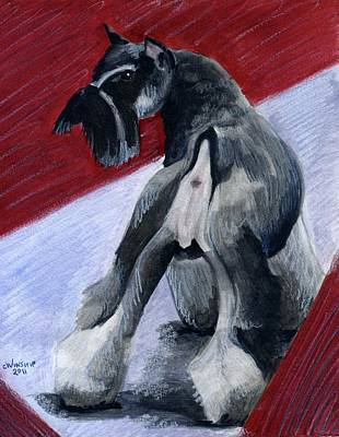Puppies Mixed Media - Doggie Butt by Christine Winship