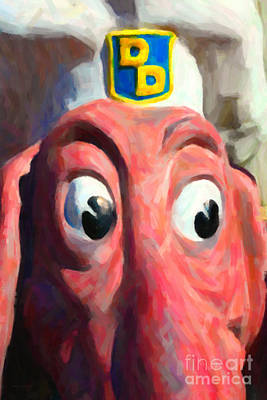 Doggie Diner Dog - Painterly - 5d20939 Art Print