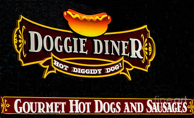 Doggie Diner Print by Mitch Shindelbower