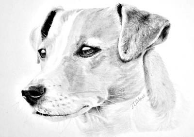 Doggie Art Print by Janet Moss