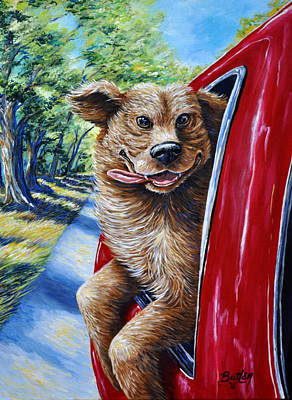 Painting - Dog...gone Happy by Gail Butler