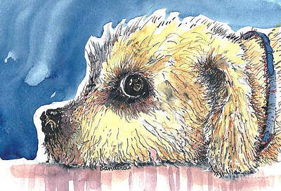 Doggy Being Scolded Art Print by Terry Banderas