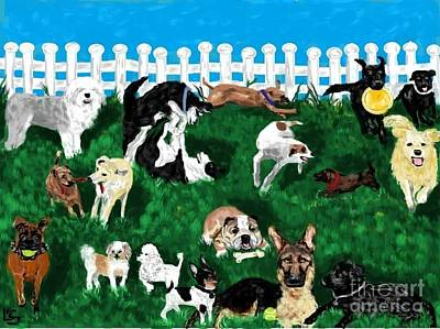 Painting - Doggy Daycare by LCS Art