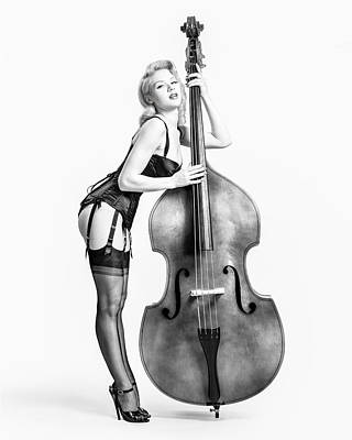 Vintage Erotica Photograph - Doghouse With Mosh - String Bass Baby   by Gary Heller