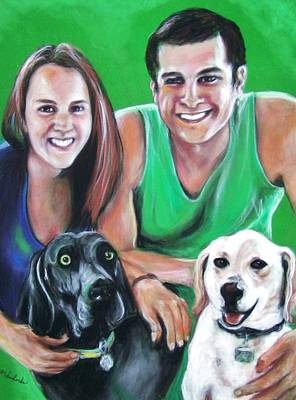 Pastel - Dogs Are Family Too by Martha Suhocke