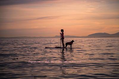 Surf Lifestyle Digital Art - Dogs Are Not Our Whole Life But They Make Our Lives Whole by Eti Reid