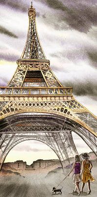 Painting - Dogs Like Paris Too by Irina Sztukowski