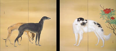 Silkscreen Painting - Dogs Of Europe by Mountain Dreams