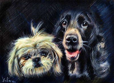 Dogs - Pencil Drawing Art Print