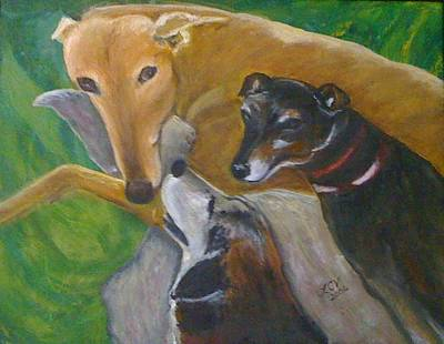 Dogs Resting Art Print