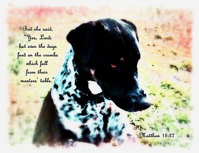 Artist Working Photograph - Dogs Rule - Verse by Anita Faye