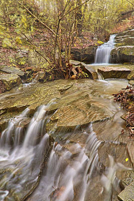 Photograph - Dogtown Falls - Arkansas - Emerald Park - North Little Rock by Jason Politte