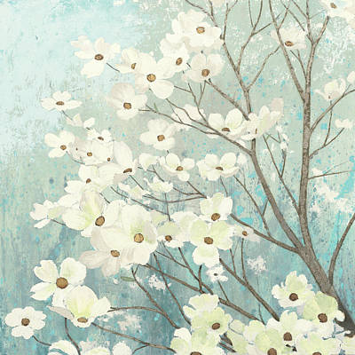 Eco Painting - Dogwood Blossoms I by James Wiens