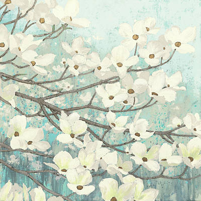 Gild Painting - Dogwood Blossoms II by James Wiens