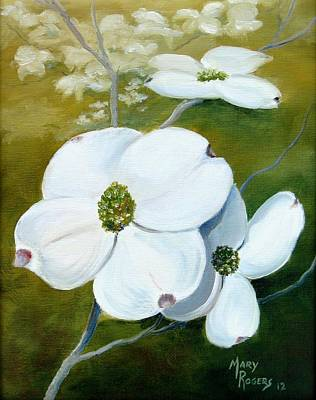 Dogwood Blossoms Art Print by Mary Rogers