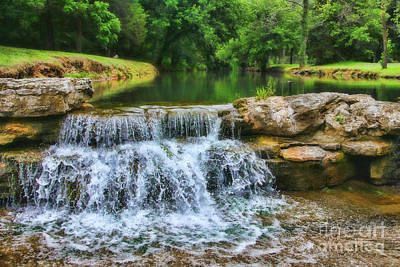Dogwood Canyon Falls Art Print
