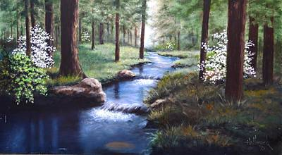 Dogwood Creek Art Print by Bob Hallmark