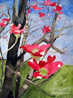 Dogwood Flowers Art Print