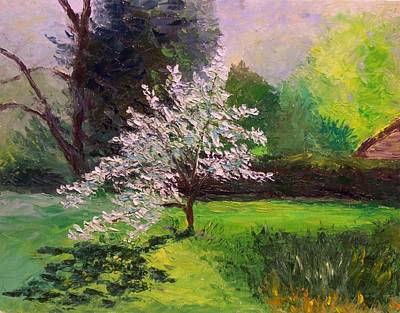 Painting - Dogwood In Bloom by Nicolas Bouteneff