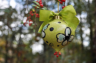 Dogwood Majolica Maiolica Ornament Print by Amanda  Sanford