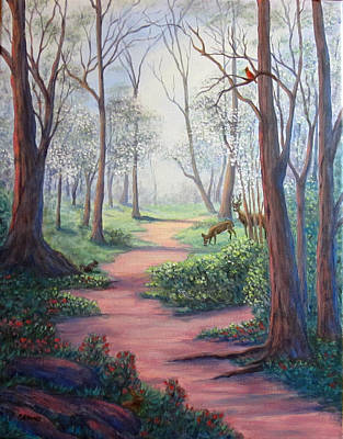 Painting - Dogwood Path by Fran Brooks