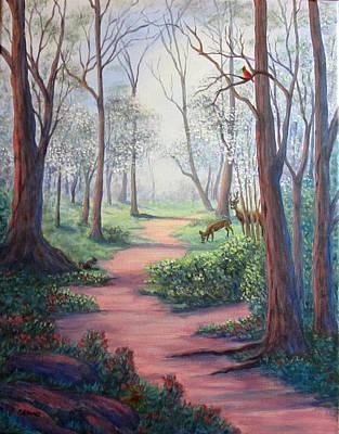 Painting - Dogwood Path by Fran Brooks