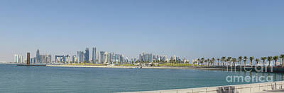 Photograph - Doha City Skyline From Museum Park by Paul Cowan