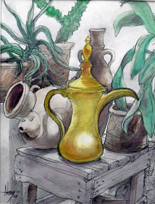 Doha Coffee Urn Art Print by Jack Adams