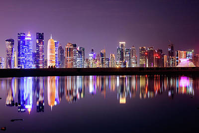 Photograph - Doha Skyscrapers by Photography By Lubaib Gazir