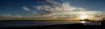 Photograph - Doheny Beach Sunset Panorama by Peggy Hughes