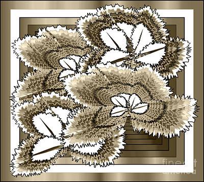 Doily Digital Art - Doilies by Iris Gelbart