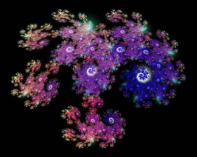 Doily Digital Art - Doily-eyes-121221-1255-b by Nick Turner