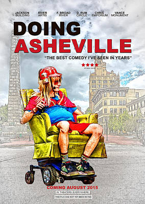 Digital Art - Doing Asheville Poster by John Haldane
