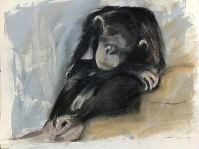 Chimpanzee Mixed Media - Doing Time by Perry Macfarlane