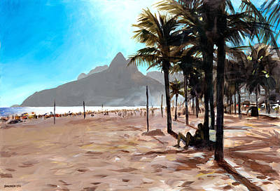 South America Painting - Dois Irmaos by Douglas Simonson