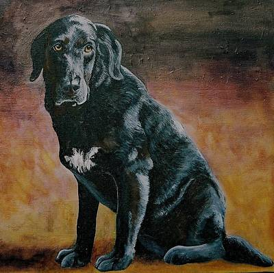 Mixed Labrador Retriever Painting - Dolche by Lisa Wiertel