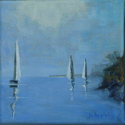 Water Sports Poster Painting - Doldrums by Jo Appleby