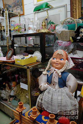 Old Photograph - Doll And Other Items In Antique Shop by Amy Cicconi