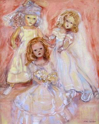Doll Fancy Art Print by Susan Hanlon