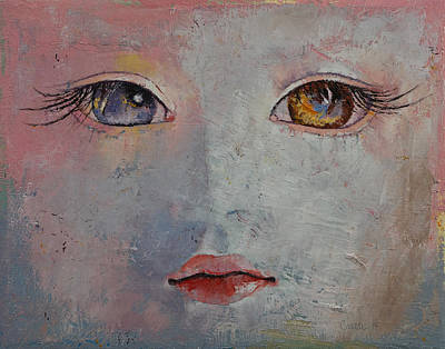 Eyelash Painting - Baby Doll by Michael Creese