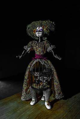 Railroad - Doll with Dead Bird in New Orleans by Louis Maistros